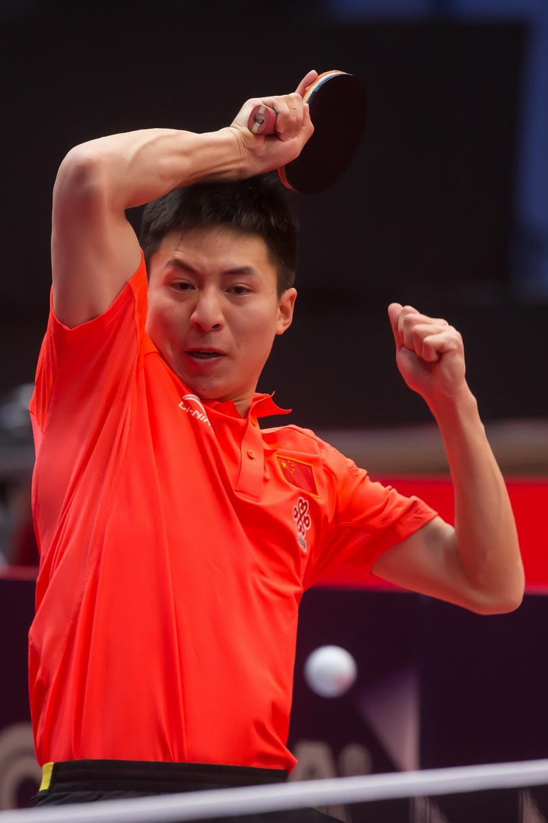 1月20日,在匈牙利首都布达佩斯举行的2017国际乒联世界巡回赛匈牙利公开赛男单八分之一决赛中,中国选手方博以4比1战胜德国选手王熹