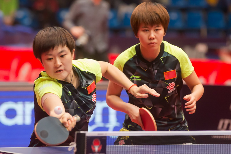 1月20日,在匈牙利首都布达佩斯举行的2017国际乒联世界巡回赛匈牙利公开赛男双半决赛中,中国组合陈幸同/李佳燚以3比0战胜俄罗斯组合多尔基克/米哈伊洛娃。