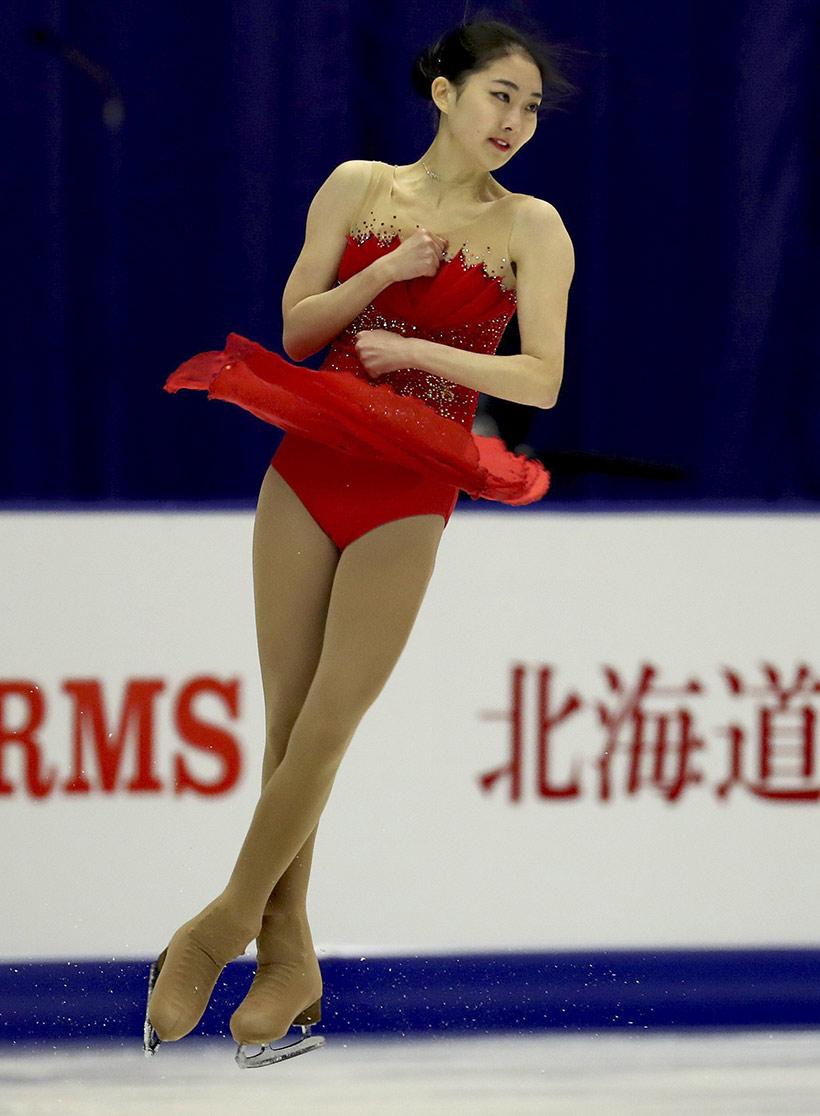 中国选手李子君在自由滑比赛中。