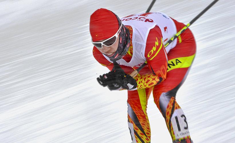 中国队选手李宏雪在比赛中。