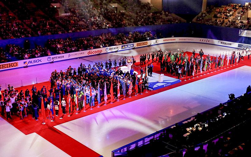 运动员代表在闭幕式上入场。新华社记者杨世尧摄