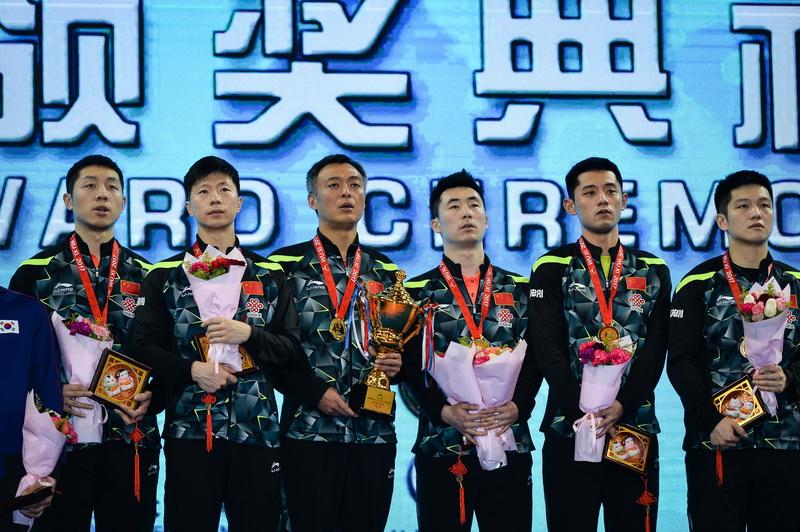 亚锦赛男团颁奖仪式