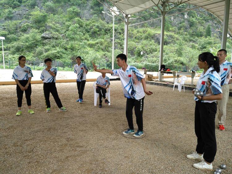 掷球分支项目~小金属球。抛击和靠球动作展示