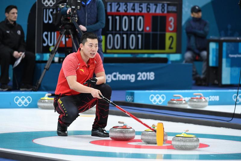 中国队选手巴德鑫在比赛中