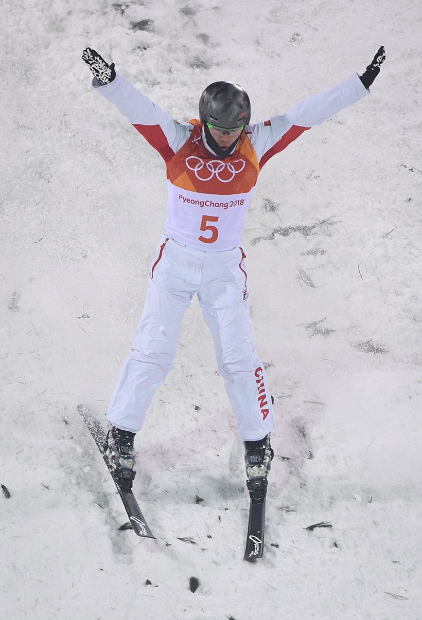 中国选手齐广璞在资格赛中。