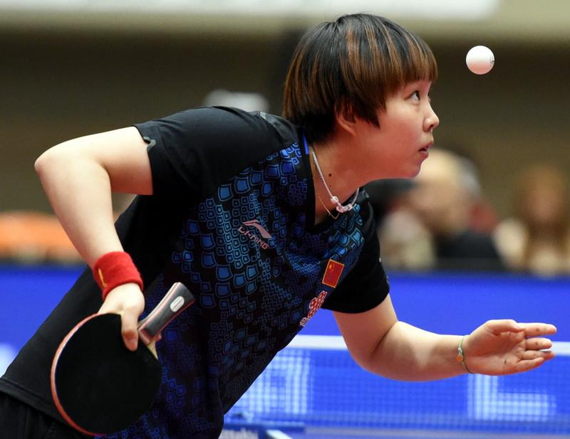 中国选手朱雨玲以4比1战胜队友陈梦,获得冠军