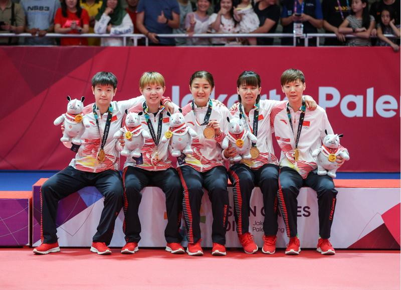 中国队在颁奖仪式上