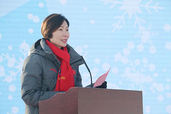 张丹程爽助阵北京大兴区第一届青少年冬运会
