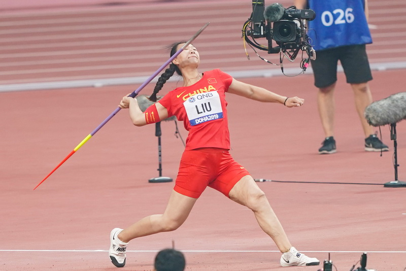 吕会会和刘诗颖顺利晋级女子标枪决赛