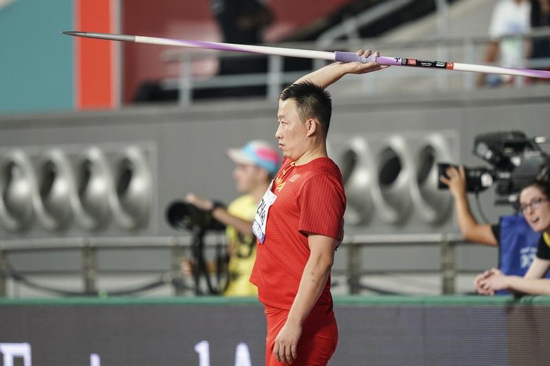 赵庆刚在比赛中