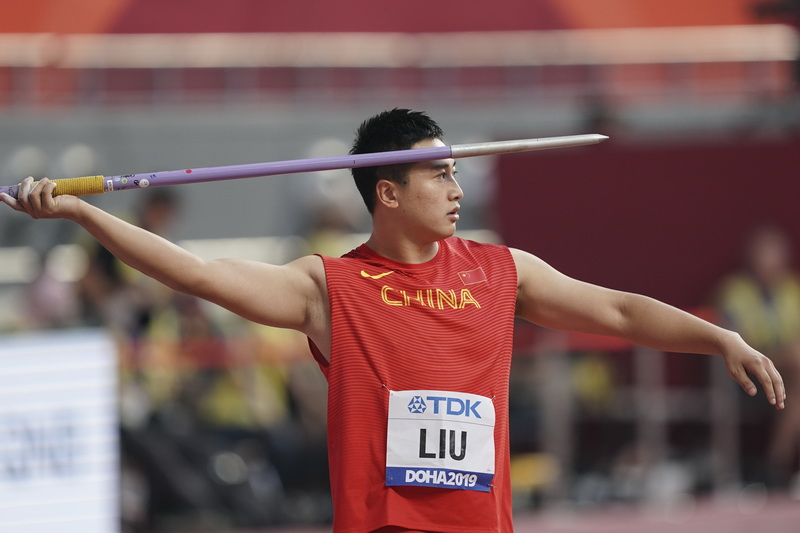 刘启臻在比赛中