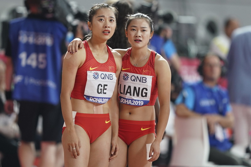 中国队在比赛中