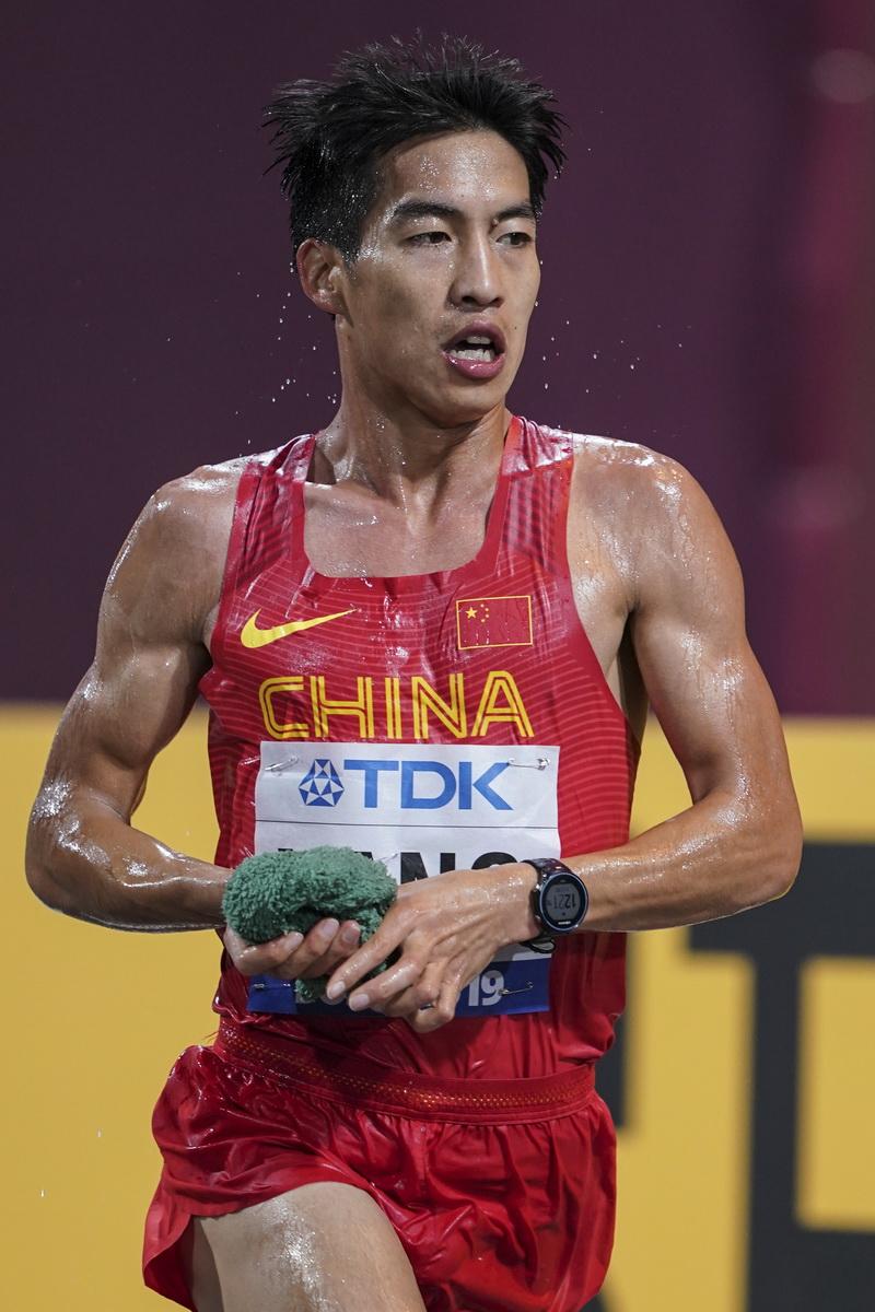 杨绍辉在比赛中
