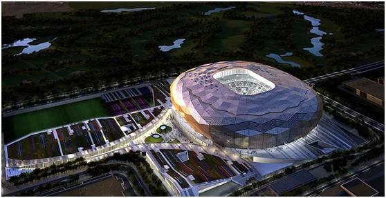 """卡塔尔世界杯第三座体育场""""沙漠钻""""竣工_华奥星空"""
